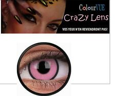 Lentilles de contact lens festives de COLOURVUE CRAZYLENS HOT PINK 365 j