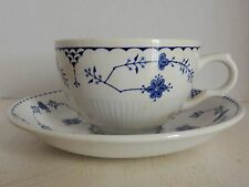 MASON'S COBALT BLUE DENMARK IRONSTONE CHINA BREAKFAST CUP & SAUCER IRON MARKS