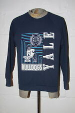 VTG 80's Yale University Bulldogs Navy Blue Crewneck Sweatshirt Soft Thin Sz L M