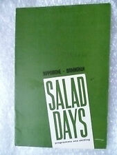 Theatre Programme- SALAD DAYS- D Reynolds,J Slade,T Griffiths,B Carroll,13/6/64