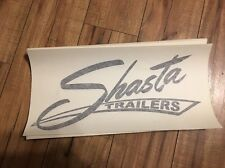 Shasta Travel Trailer Vintage style decal replacement Red