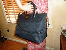 NWT PRADA Tessuto Saffiano Nylon Tote Shoulder Bag NERO (BLACK) BN2541  DUSTBAG