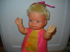 """VTG 1965~BABY SMILE N' FROWN~13"""" MATTEL BABY DOLL~ORIGINAL CLOTHES~POUTS+SMILES"""