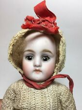ANTIQUE GEMAN BISQUE DOLL SIMON AND HALBIG #1304 MINIATURE CLOSED MOUTH 7""