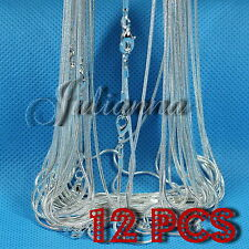 """WHOLESALE - 12 pcs Silver Plated 24"""" silver chain"""