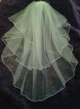 Ivory elbow length wedding veil with Swarovski Crystals 2T full circle  23/30""