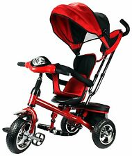 3 in 1 Trike Child Safe Trainer Ride On Tricycle Stroller Push Toy Black Red