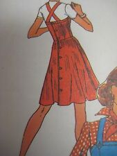 Vintage 1970's Simplicity CRISS-CROSSED STRAPS JUMPER DRESS Sewing Pattern Women