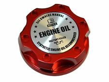RED SYNTHETIC OIL BILLET RACING ENGINE OIL FILLER CAP FOR MITSUBISHI SL
