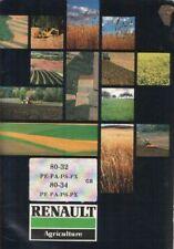 RENAULT TRACTEUR 80-32 & 80-34 PE, PA, PS, les opérateurs PX manuel