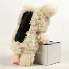 Cute 3D Teddy Bear Plush Toy Doll Cover Case For Various Apple Mobile Cell Phone