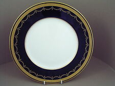 "ROYAL WORCESTER COBALT BLUE HEAVY GILDED WITH GARLAND 10 1/2"" DINNER PLATE."
