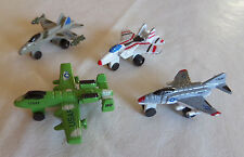 Lot of 4 Vintage Micro Machine Size Military Aircraft