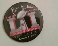 SUPER BOWL 51 (FIFTY-ONE) ATLANTA FALCONS, NEW ENGLAND PATRIOTS- BUTTONS