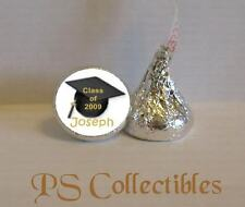108 GRADUATION PARTY FAVORS PERSONALIZED KISS CANDY LABELS WRAPPERS STICKERS