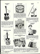 1956 ADVERT Jaymar Toy Pianos Amenee Accordions Mickey Mouse Guitar Band Mattel