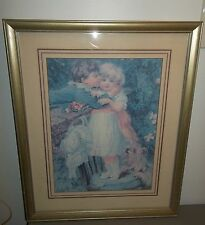 """HOUSE OF LLOYD """"OVER THE GARDEN WALL"""" 16"""" X 20"""" FRAMED AND MATTED PRINT #291300"""