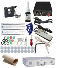 Complete Tattoo Kit 1 Rotary Gun Machine Stealth USA Plug With Case