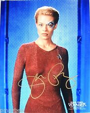 "Jeri Ryan Autographed Photo 8""X10"" as Seven of Nine in STAR TREK VOYAGER Genuine"
