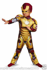 Iron Man 3 Mark 42 Toddler Costume ARC REACTOR GLOWS! INCLUDES GLOVES! 3T-4T