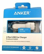 Anker 24W 2-Port USB Car Charger PowerIQ Technology Phones Tablets Kindle GPS