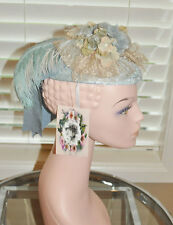 Women Victorian Edwardian Downton Abbey French Foam Tea Party Hat USA Made 1900