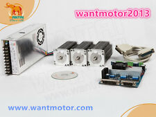 DE Ship! 3Axis Wantai Stepper Motor Nema23 270oz-in 6-Lead+Driver Board cnc kit