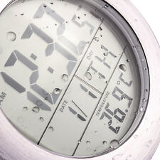 Waterproof Digital Electronic Alarm Clock + Thermometer Bathroom Kitchen Clock