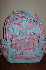 Pottery Barn Kids Large Mackenzie backpack pink kitty cat *small issue*