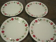 """(4) CORELLE 'SPRING PINK' 6½"""" B&B / DESSERT PLATES, IN EXCELLENT CONDITION"""