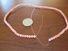 Vtg 1950's Angel Skin Coral Strand Necklace All Natural 1/8 Inch