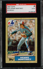 DENNY MARTINEZ  Autographed Signed 1987  Topps Card #252 SGC Authnetic