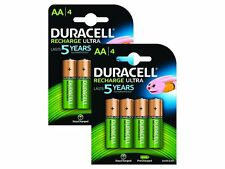 8x Duracell Ultra AA Double A 2500mAh Rechargeable Battery Batteries 81535767