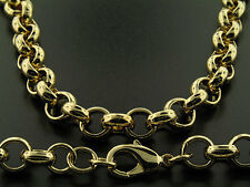 "Luxury Belcher Chain Necklace - 18K Gold Filled - Men's - 10mm, 24"" Bling"