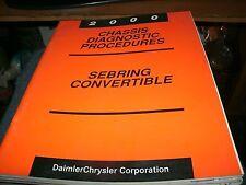 2000 CHRYSLER SEBRING CONVERTIBLE CHASSIS DIAGNOSIS SHOP SERVICE MANUAL