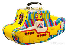 The Beatles - Yellow Submarine Embossed Tin Lunch Box Metal Collectible - 9.5x5