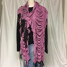 JUICY COUTURE Fashion Black Knitted Pattern Loop Tippet Shawl,Wrap, Scarf