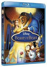 Beauty and the Beast Blu-ray Disney Movie 1991 Classic Film Gaston and Belle New