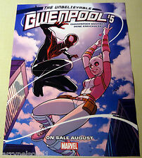 GWENPOOL PROMO POSTER SPIDER-MAN MILES MORALES GWEN MARVEL HASTINGS STRYCHALSKI
