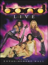 BOND - LIVE AT THE ROYAL ALBERT HALL DVD ~ CLASSICAL POP STRING QUARTET *NEW*