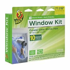 Duck Brand 281506 Indoor 10-Window Shrink Film Insulator Kit, 62-Inch x 420-Inch
