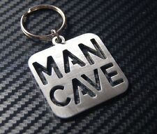 MAN CAVE Shed Garage Room Male Retreat Space Home Den Keyring Keychain Gift