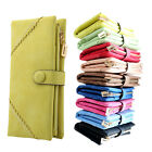 Women Leather Wallet Button Clutch Purse Lady Long Handbag Card Coin Bag Gift