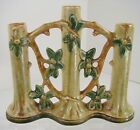 Weller MINT Pottery Triple Woodcraft APPLE ORCHARD Tree Flower Bud Stick Vase