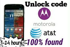 Unlock code At&t Motorola Moto X Moto x 2nd  Moto E 2nd Moto g 2nd 3rd nexus 6