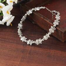 New Women Fashion 925 Sterling Silver Plated Owl Shaped Chain Bracelet Gift