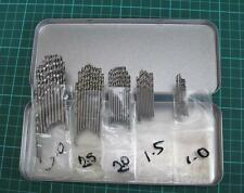 Job Lot Of 50pc Engineers HSS Drill Bits Tools Craft Model Jewellers Maker 1-3mm