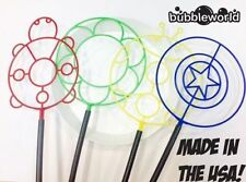 BUBBLE WAND FAMILY PACK - 4 WANDS & TRAY! - MADE LOCAL IN THE USA! BIG BUBBLES!