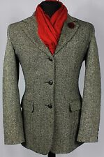 Womens Tweed Jacket Blazer Esprit Herringbone Grey Size 12 Tall EXCEPTIONAL 249