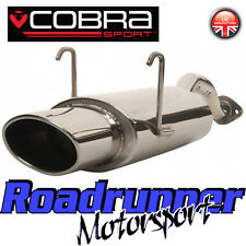 """HN12 Cobra Civic Type R EP3 Back Box Stainless Rear Silencer Exhaust 6x4"""" Oval"""